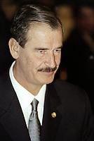 Vincente Fox assiste a la conference de Montreal en 2001 (date exacte inconnue)<br /> <br /> PHOTO : Agence Quebec Presse<br /> <br /> <br />  NOTE : Lorsque requis la photo commandée sera recadrée et ajustée parfaitement.