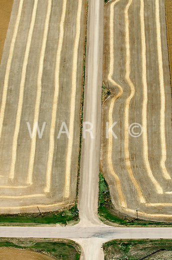 Road intersection along the farm fields. North of Limon, Colorado. 86459
