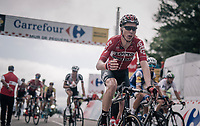 Marcel Sieberg (DEU/Lotto-Soudal) about to grab a last bidon up the Mur de Péguère (Cat1/1375m/9.3km/7.9%)<br /> <br /> 104th Tour de France 2017<br /> Stage 13 - Saint-Girons › Foix (100km)