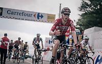 Marcel Sieberg (DEU/Lotto-Soudal) about to grab a last bidon up the Mur de Péguère (Cat1/1375m/9.3km/7.9%)<br /> <br /> 104th Tour de France 2017<br /> Stage 13 - Saint-Girons › Foix (100km)