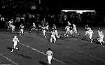 Bethel Park PA:  Offensive play with Mike Stewart 11 running the option with Clark Miller 30 and a great block by Dennis Franks 66.  Others in the photo; Bruce Evanovich 80, Don Troup 51, Joe Barrett 75, Gary Biro 81, Jim Dingeldine. After Scott Streiner was injuried on the first play, the team rallied and came up just short of winning the game when they missed a two-point conversion late in the 4th quarter (7-6).