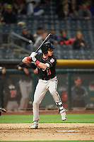 Drew Weeks (11) of the Albuquerque Isotopes bats against the Salt Lake Bees at Smith's Ballpark on April 5, 2018 in Salt Lake City, Utah. Salt Lake defeated Albuquerque 9-3. (Stephen Smith/Four Seam Images)