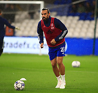 28th September 2021; Cardiff City Stadium, Cardiff, Wales;  EFL Championship football, Cardiff versus West Bromwich Albion; Marlon Pack of Cardiff City looks to pass the ball during warm up