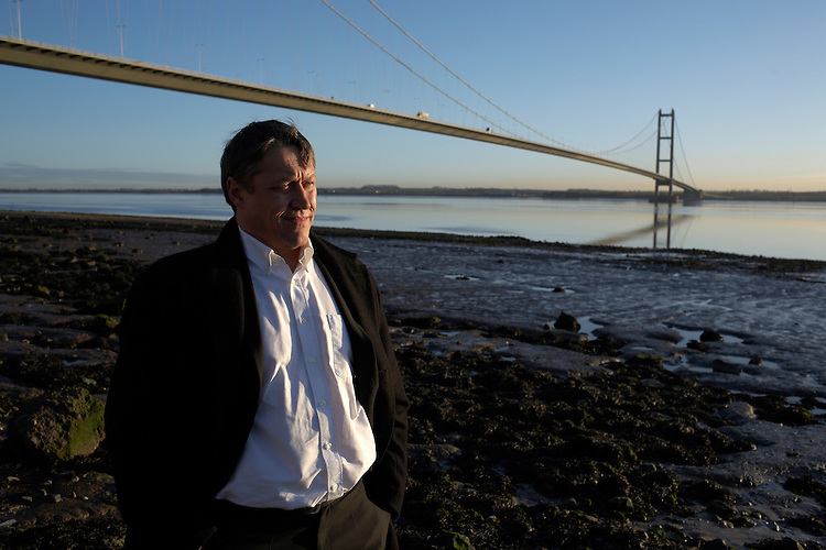 © John Angerson .Writer Robert Crampton returns to his home town of Hull to find out how it has changed. Humber bridge