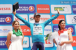 Kristijan Durasek (CRO) Lampre-Merida retains the overall race lead at the end of Stage 7 of the 2015 Presidential Tour of Turkey running 166km from Selcuk to Izmir. 2nd May 2015.<br /> Photo: Tour of Turkey/Mario Stiehl/www.newsfile.ie