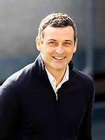 13th March 2021; Global Energy Stadium, Dingwall, Highland, Scotland; Scottish Premiership Football, Ross County versus Hibernian; Jack Ross Hibernian Manager looking relaxed before kick off