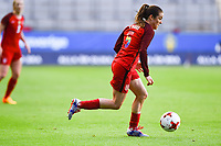 Gothenburg, Sweden - Thursday June 08, 2017: Kelley O'Hara during an international friendly match between the women's national teams of Sweden (SWE) and the United States (USA) at Gamla Ullevi Stadium.