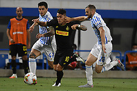 Kevin Bonifazi of SPAL , Lautaro Martinez of FC Internazionale and Francesco Vicari of SPAL compete for the ball during the Serie A football match between SPAL and Internazionale FC at Paolo Mazza stadium in Ferrara ( Italy ), July 16th, 2020. Play resumes behind closed doors following the outbreak of the coronavirus disease. Photo Andrea Staccioli / Insidefoto