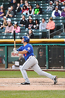Zach Lutz (19) of the Las Vegas 51s at bat against the Salt Lake Bees at Smith's Ballpark on May 8, 2014 in Salt Lake City, Utah.  (Stephen Smith/Four Seam Images)