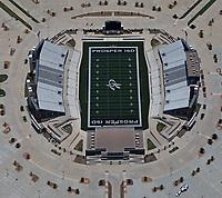 aerial photograph of the Prosper Independent School District Children's Health Stadium, Prosper, Texas