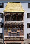Austria, Tyrol, Innsbruck: the Golden Roof | Oesterreich, Tirol, Innsbruck: das Goldene Dachl in der Altstadt