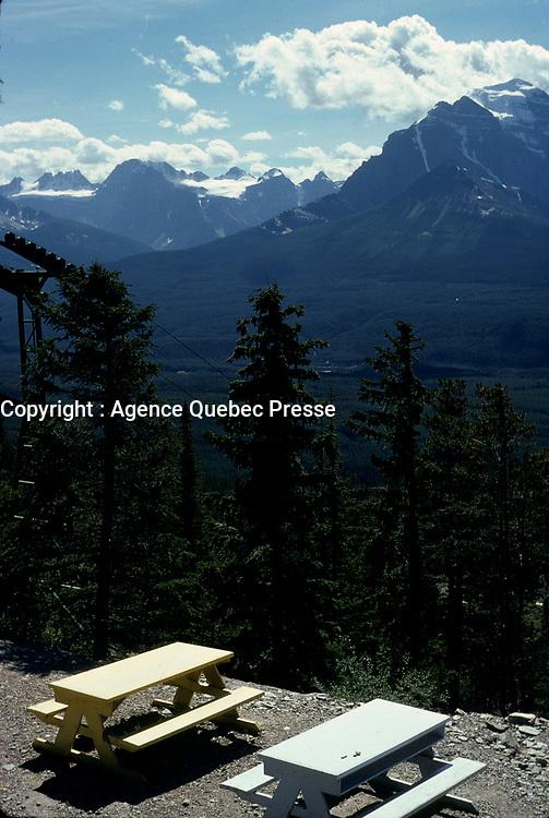 Alberta, CANADA, 1974 File Photo - Banff national Park
