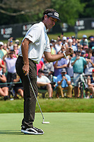 4th July 2021, Detroit, MI, USA;  Bubba Watson (USA) after sinking his birdie putt on 18 during the Rocket Mortgage Classic Rd4 at Detroit Golf Club on July 4,