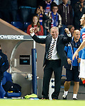 Rangers manager Ally McCoist celebrates as Lewis Macleod lashes the ball in to score
