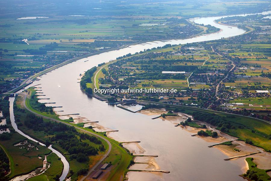 Elbe bei Zollenspiekerr: EUROPA, DEUTSCHLAND, HAMBURG, NIEDERSACHSEN 04.07.2014: Elbe bei Zollenspieker