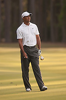 PONTE VEDRA BEACH, FL - MAY 6: Tiger Woods watches his ball after hitting his shot on the 11th fairway during his practice round on Wednesday, May 6, 2009 for the Players Championship, beginning on Thursday, at TPC Sawgrass in Ponte Vedra Beach, Florida.