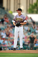 Rochester Red Wings starting pitcher Stephen Gonsalves (23) gets ready to deliver a pitch during a game against the Lehigh Valley IronPigs on June 29, 2018 at Frontier Field in Rochester, New York.  Lehigh Valley defeated Rochester 2-1.  (Mike Janes/Four Seam Images)