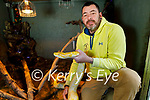 Maurice Enright of Sera Husky Animal Centre highlighting that animals should not be given as Christmas gifts as Maurice stands with Medusa a 10 foot Python