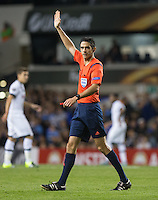 Referee Adrien Jaccottet (SUI) during the UEFA Europa League match between Tottenham Hotspur and Qarabag FK at White Hart Lane, London, England on 17 September 2015. Photo by Andy Rowland.