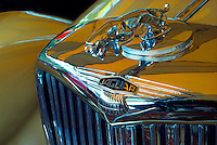 Detail of a Jaguar Vintage Car