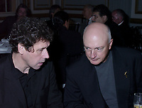 Montreal, 1999-08-27. Jury members Stephen Rea (Irish actor) and Persy Adlon (Germen director on the right) discussing at the opening party of the 1999 World Film Festival in Montreal (Quebec Canada)<br /> Photo : (C) Pierre Roussel, 1999<br /> KEYWORDS : Celebrities, Stephen Rea, Percy Adlon