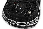 Car Stock 2016 BMW 7-Reeks-Berline 4 Door Sedan Engine  high angle detail view