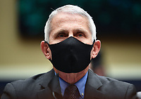 Director of the National Institute for Allergy and Infectious Diseases Dr. Anthony Fauci wears a face mask while he waits to testifiy before the House Committee on Energy and Commerce on the Trump Administration's Response to the COVID-19 Pandemic, on Capitol Hill in Washington, DC on Tuesday, June 23, 2020.  <br /> Credit: Kevin Dietsch / Pool via CNP/AdMedia