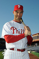 Feb 20, 2009; Clearwater, FL, USA; The Philadelphia Phillies outfielder Raul Ibanez (29) during photoday at Bright House Field. Mandatory Credit: Tomasso De Rosa/ Four Seam Images
