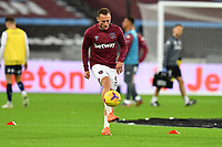 Vladimir Coufal of West Ham United warms up during West Ham United vs Aston Villa, Premier League Football at The London Stadium on 30th November 2020