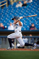 Lake County Captains shortstop Ernie Clement (31) follows through on a swing during the first game of a doubleheader against the South Bend Cubs on May 16, 2018 at Classic Park in Eastlake, Ohio.  South Bend defeated Lake County 6-4 in twelve innings.  (Mike Janes/Four Seam Images)