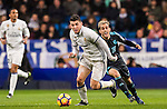 Mateo Kovacic (l) of Real Madrid battles for the ball with Juanmi Jimenez of Real Sociedad during their La Liga match between Real Madrid and Real Sociedad at the Santiago Bernabeu Stadium on 29 January 2017 in Madrid, Spain. Photo by Diego Gonzalez Souto / Power Sport Images