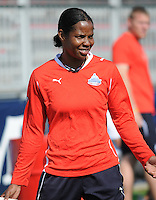 Goalkeeper Briana Scurry at Washington Freedom practice session, Thursday April 8, 2010