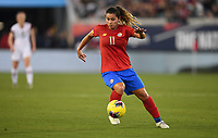 JACKSONVILLE, FL - NOVEMBER 10: Raquel Rodriguez #11 of Costa Rica moves with the ball during a game between Costa Rica and USWNT at TIAA Bank Field on November 10, 2019 in Jacksonville, Florida.