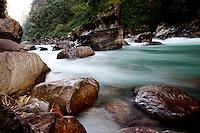 Bhote Kosi River below The Last Resort, Nepal