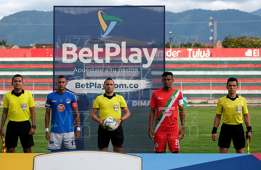 TULUA-COLOMBIA, 12-10-2020: Cortulua y Orsomarso S. C. durante partido por la fecha 14 del Torneo BetPlay DIMAYOR 2020 en el estadio Doce de Octubre de la ciudad de Tulua. / Cortulua Orsomarso S. C. during a match for the 14th date of the BetPlay DIMAYOR 2020 tournament at the Doce de Octubre de stadium in Tulua city. / Photo: VizzorImage / Juan Jose Horta / Cont.