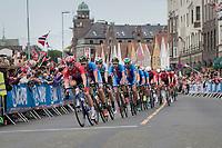 racing in Bergen city center<br /> <br /> Men Elite Road Race<br /> <br /> UCI 2017 Road World Championships - Bergen/Norway