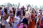 Hippies dancing at a music festival in Santa Rosa, CA circa 1970s.