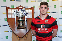 SCHOOLS CUP DRAW 2016 | Monday 16th November 2015<br /> <br /> Rainey captain Andrew Brown - Ulster Schools Cup draw at Kingspan Stadium, Ravenhill Park, Belfast, Northern Ireland.<br /> <br /> Photo credit: John Dickson / DICKSONDIGITAL