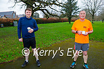 Ready to run in the Tralee Town Park on Sunday, l to r: John Mike Fitzgerald and Pat Sheehy.