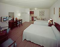 Cara Mara Motel, Wildwood, NJ. 1960's Motel Room with Black & White TV.