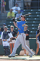 Lake Elsinore Storm shortstop Drew Cumberland of the California League All- Stars taking part in the home run derby before the California League vs. Carolina League All-Star game held at BB&T Coastal Field in Myrtle Beach, SC on June 22, 2010.  The California League All-Stars defeated the Carolina League All-Stars by the score of 4-3.  Photo By Robert Gurganus/Four Seam Images