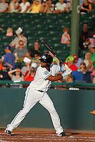 Daytona Tortugas infielder Robert Ramirez (25) at bat during a game against the Tampa Yankees at Radiology Associates Field at Jackie Robinson Ballpark on June 13, 2015 in Daytona, Florida. Tampa defeated Daytona 8-6. (Robert Gurganus/Four Seam Images)