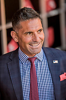 3 April 2017: MASN Broadcaster  and former MLB player F.P. Santangelo smiles in the dugout prior to the start of play between the Washington Nationals and the Miami Marlins on Opening Day at Nationals Park in Washington, DC. The Nationals defeated the Marlins 4-2 to open the 2017 MLB Season. Mandatory Credit: Ed Wolfstein Photo *** RAW (NEF) Image File Available ***