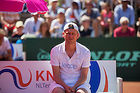Zandvoort, Netherlands, 05 June, 2016, Tennis, Playoffs Competition, Coach Leimonias: <br /> Photo: Henk Koster/tennisimages.com