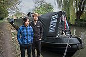 Joel & Shireen, temporary mooring on the Grand Union canal, Rickmansworth.
