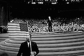 New York, New York<br /> September 2, 2004<br /> <br /> US President George W. Bush addresses the crowd at the Republican National Convention in Madison Square Garden.