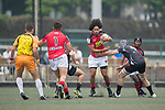 Hogan Lovells Asia Pacific Dragons vs Kir Club Pyrenees during their Cup Quarter-final as part of the GFI HKFC Rugby Tens 2017 on 06 April 2017 in Hong Kong Football Club, Hong Kong, China. Photo by Juan Manuel Serrano / Power Sport Images