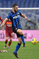Stefan de Vrij of FC Internazionale in action during the Serie A football match between AS Roma and FC Internazionale at Olimpico stadium in Roma (Italy), January 10th, 2021. Photo Andrea Staccioli / Insidefoto