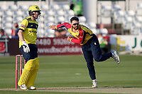 Aron Nijjar in bowling action for Essex during Essex Eagles vs Hampshire Hawks, Vitality Blast T20 Cricket at The Cloudfm County Ground on 11th June 2021