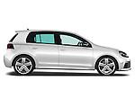 Passenger side profile view of 2011 Volkswagen Golf R 5 Door Hatchback Stock Photo
